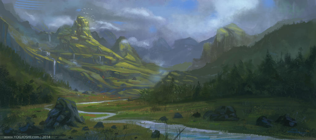 Green Mountains by YogFingers