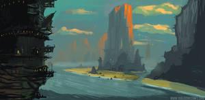 Sun Cliff by Yog Joshi by YogFingers
