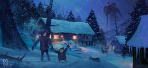 Winter Night by Yog Joshi