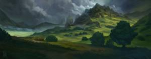 Cloudy Mountainscape