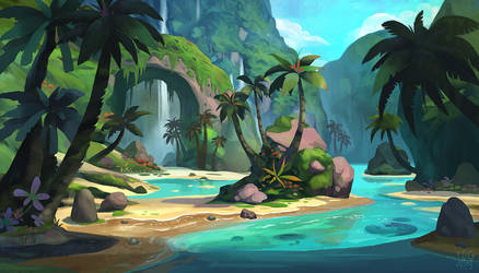 tropical environment by YogFingers