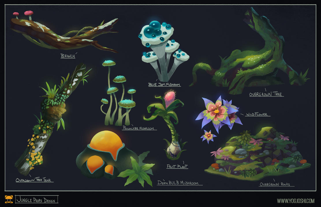 Jungle Prop Design by YogFingers