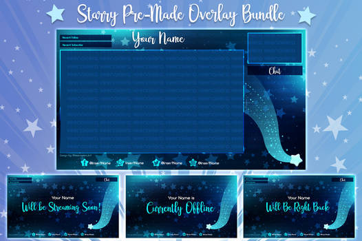 Starry Pre-Made Twitch Streaming Bundle