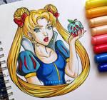 Inktober #1 - Poisonous - Sailor Moon/ Snow White