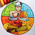 Inktober Day 2 - Tranquil - Shiro/Aang