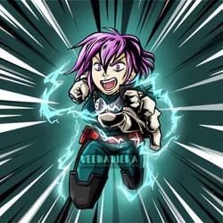 Bodysnatchers Podcast OC: Lily cosplaying as Deku by VeenaViera