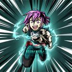 Bodysnatchers Podcast OC: Lily cosplaying as Deku