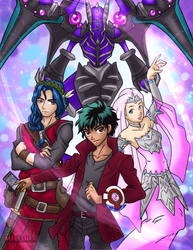Yu-Gi-Oh! Poster Commission by VeenaViera