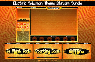 Electric Pokemon Overlay Package for Streaming