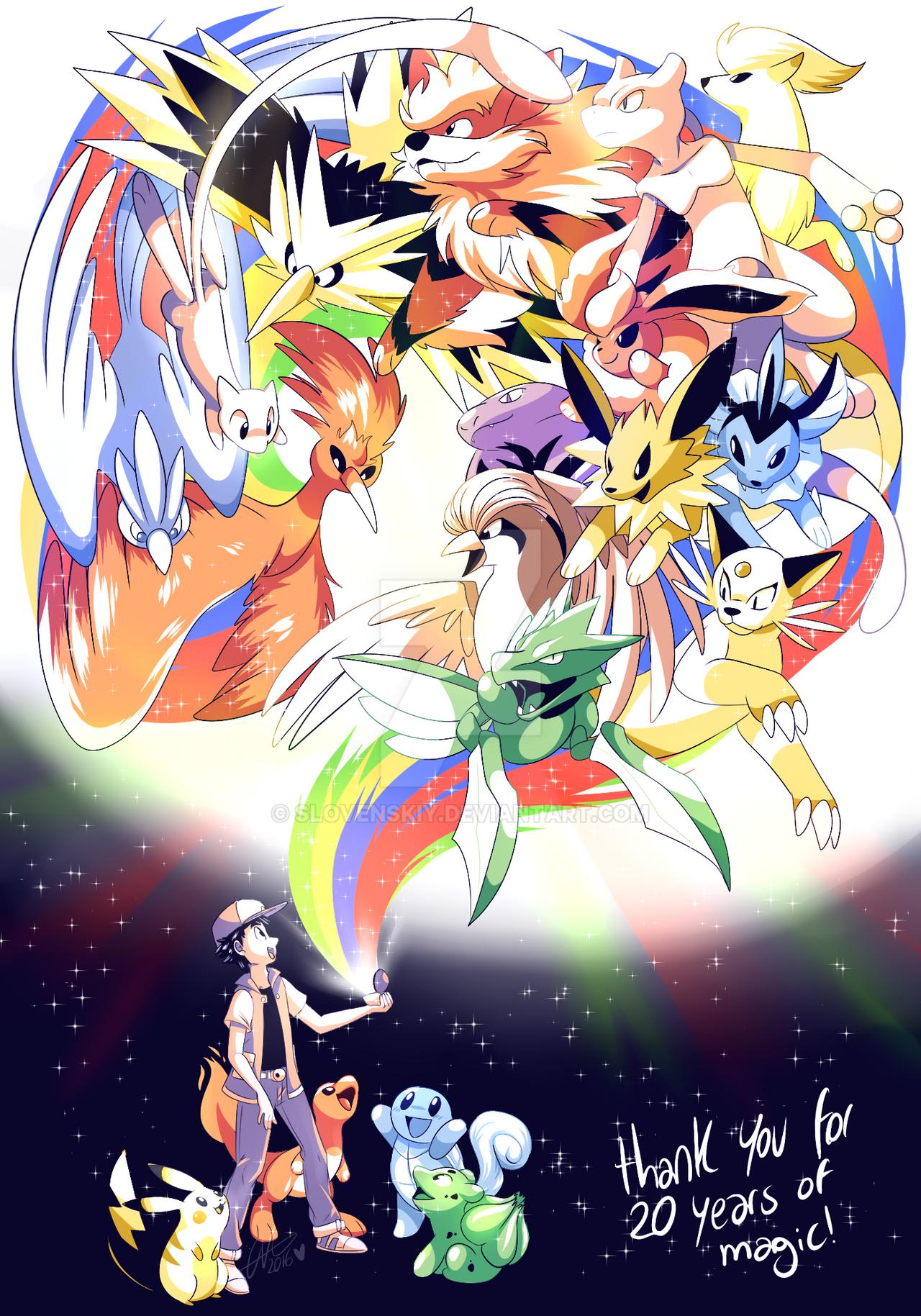 20 Years Of Pokemon By Slovenskiy