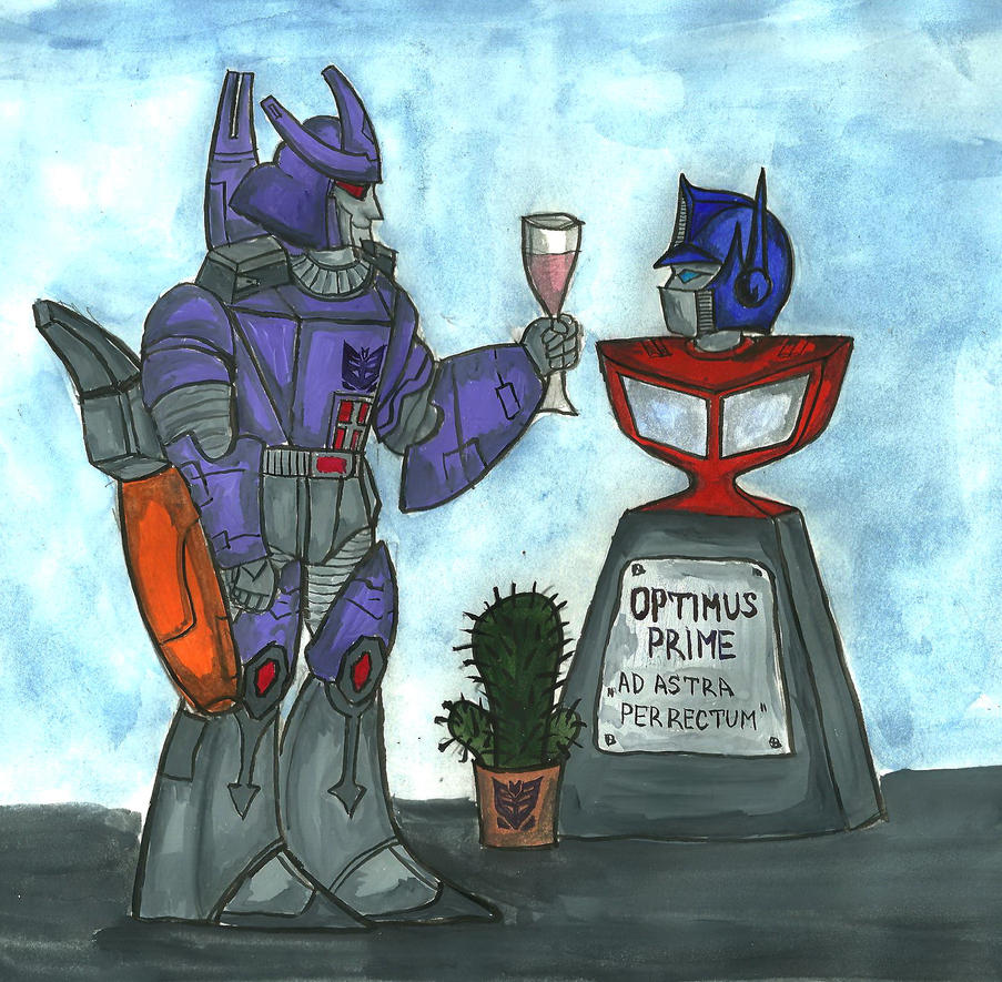 Galvatron and Optimus Prime by Galiades