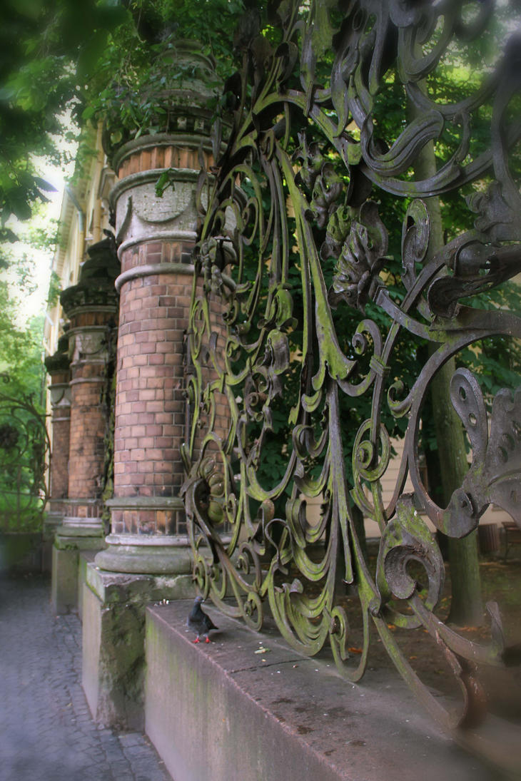 St. Petersburg The lattice of Mikhailovsky Garden by Galiades