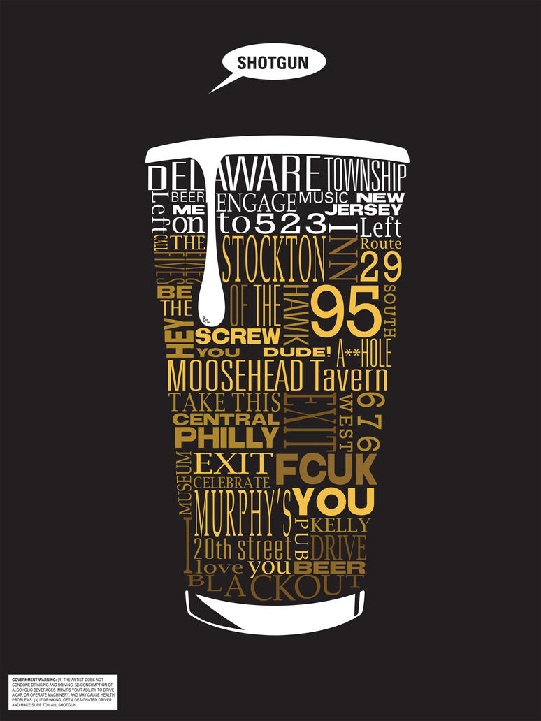 Typographic Beer Directions
