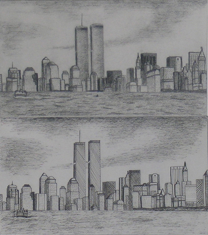 New York Skyline Pre9-11 By Smooth-as-Sandpaper On DeviantArt
