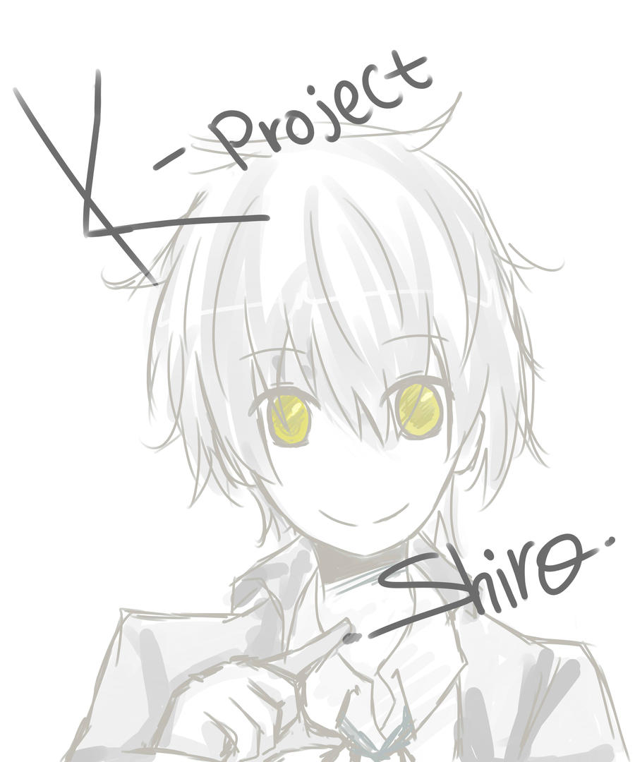 K-Project : Shiro doodle by Koharu-Rin
