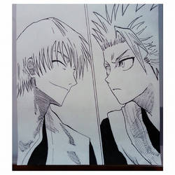 Ichimaru Gin and Hitsugaya Toushirou