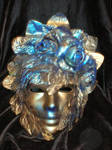 Blue and Gold Mask with Roses