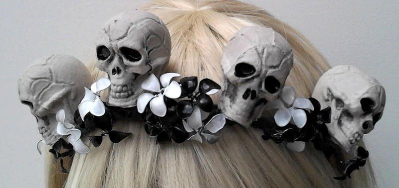 Skull Flower Crown by ErikAngelofMusic