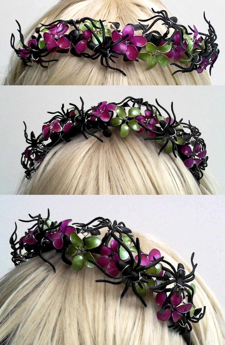 Spider Flower Crown by ErikAngelofMusic
