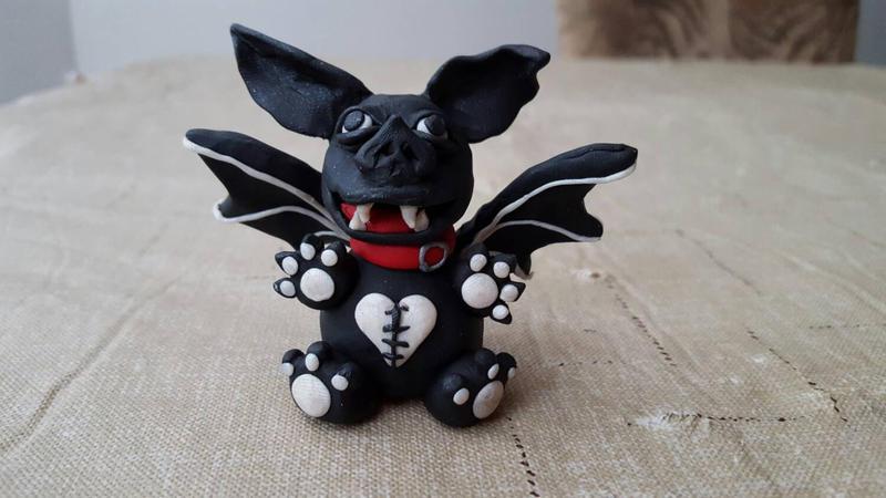 Baby Bat Monster Figurine Sculpture FOR SALE by ErikAngelofMusic