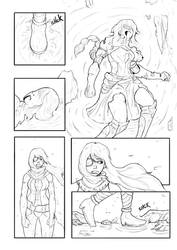 The death of Senda (Page 1) / Commission by Juanjosexd