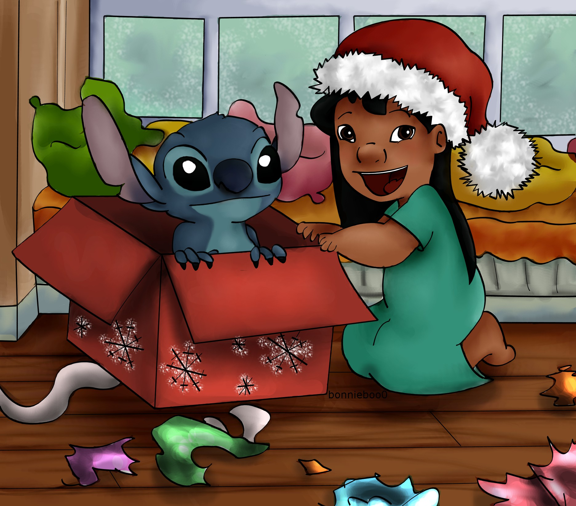 Merry Christmas From Lilo And Stitch By Bonnieboo0 On