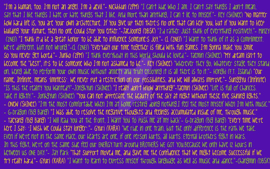 Kpop Quote Wallpaper Original By Raining Pocky88 On Deviantart