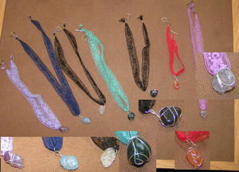 Lace Necklaces by sapphirelotus