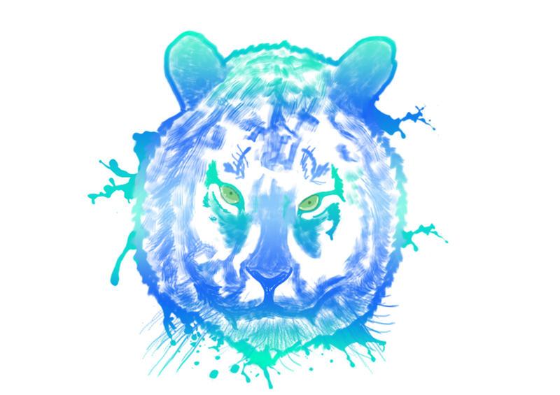 Splash Tiger by Fabyanou
