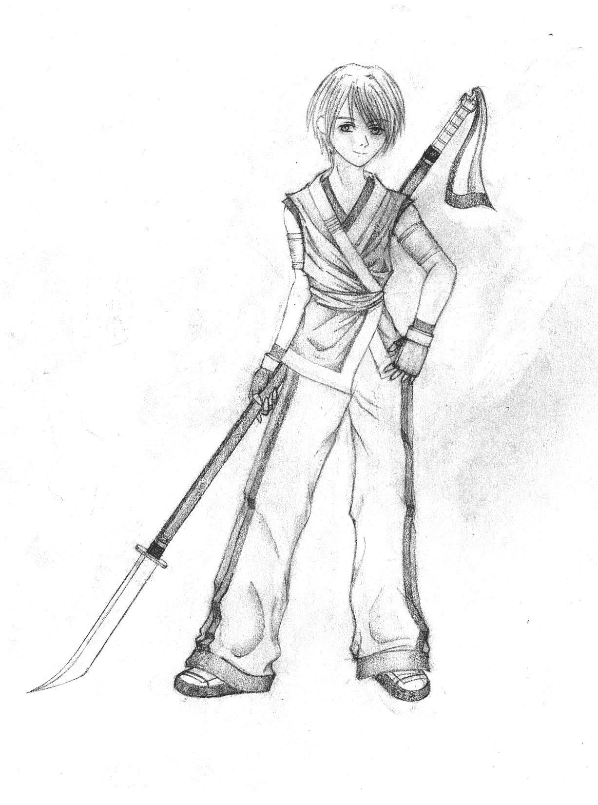Boy with Naginata by Taciturnity456
