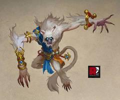 Demon Monkey King by redpencilart