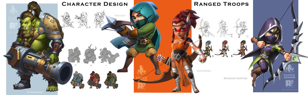 Dragonstone-CharactersDesign by redpencilart