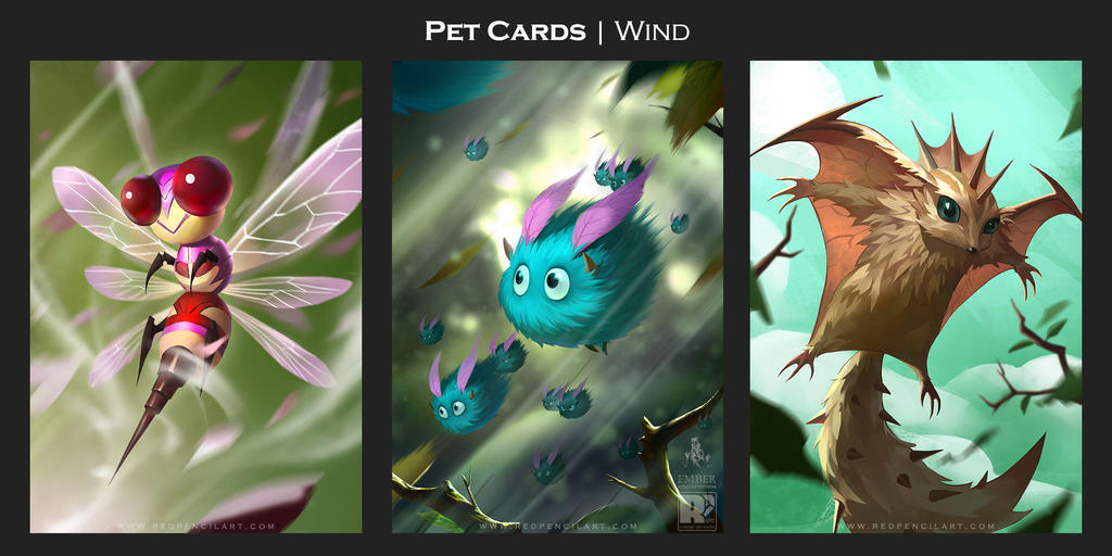 Pet Cards by redpencilart