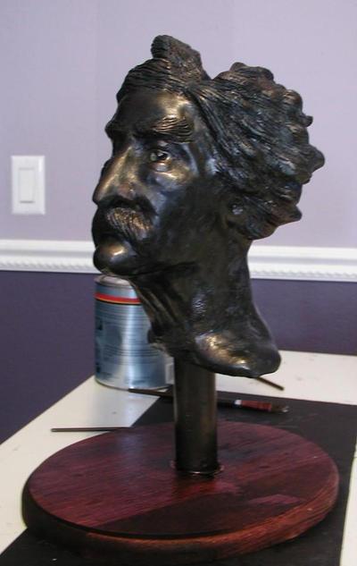 Mark twain sculpture by kvmadsen on deviantart