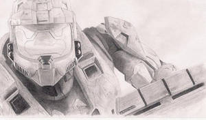 Master Chief Sketch By Seraphim