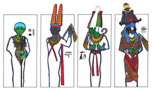 4 hot gods of Ancient Egypt 3 by PolaristheCepheid