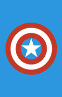 Captain America Weapon Minimalist Design by burthefly