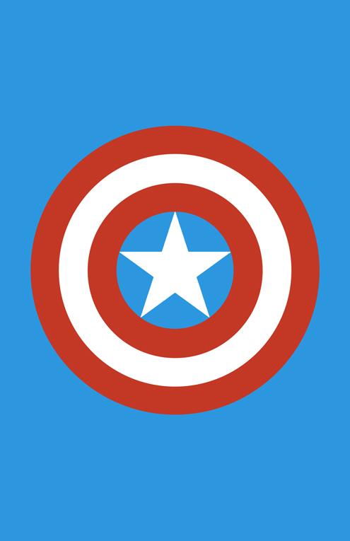 Captain America Weapon Minimalist Design by burthefly