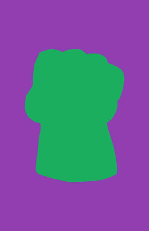 Hulk Weapon Minimalist Design by burthefly