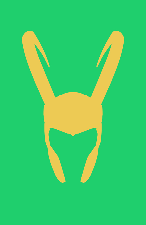 Loki Helmet Minimalist Design by burthefly