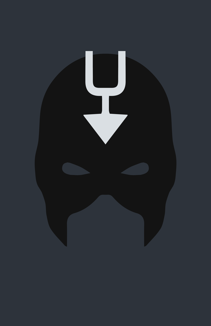 Black Bolt Mask Minimalist Design by burthefly