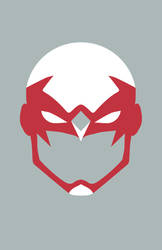 Hawk Mask Minimalist Design by burthefly