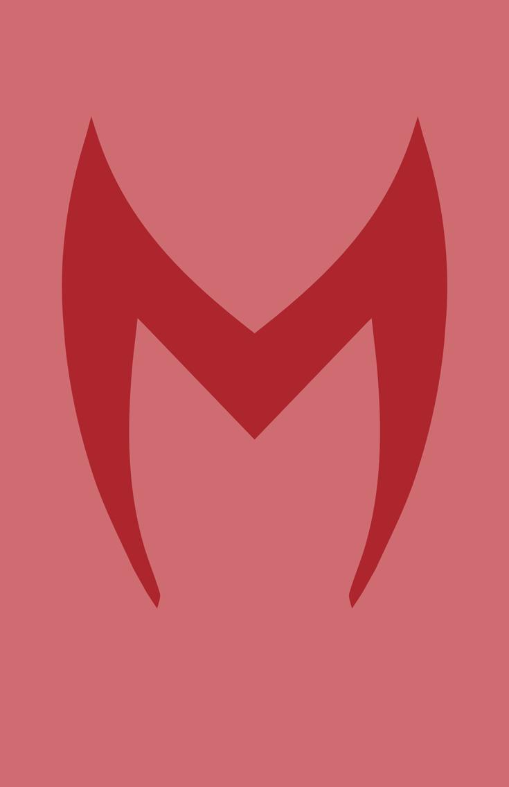 Scarlet Witch Mask Minimalist Design
