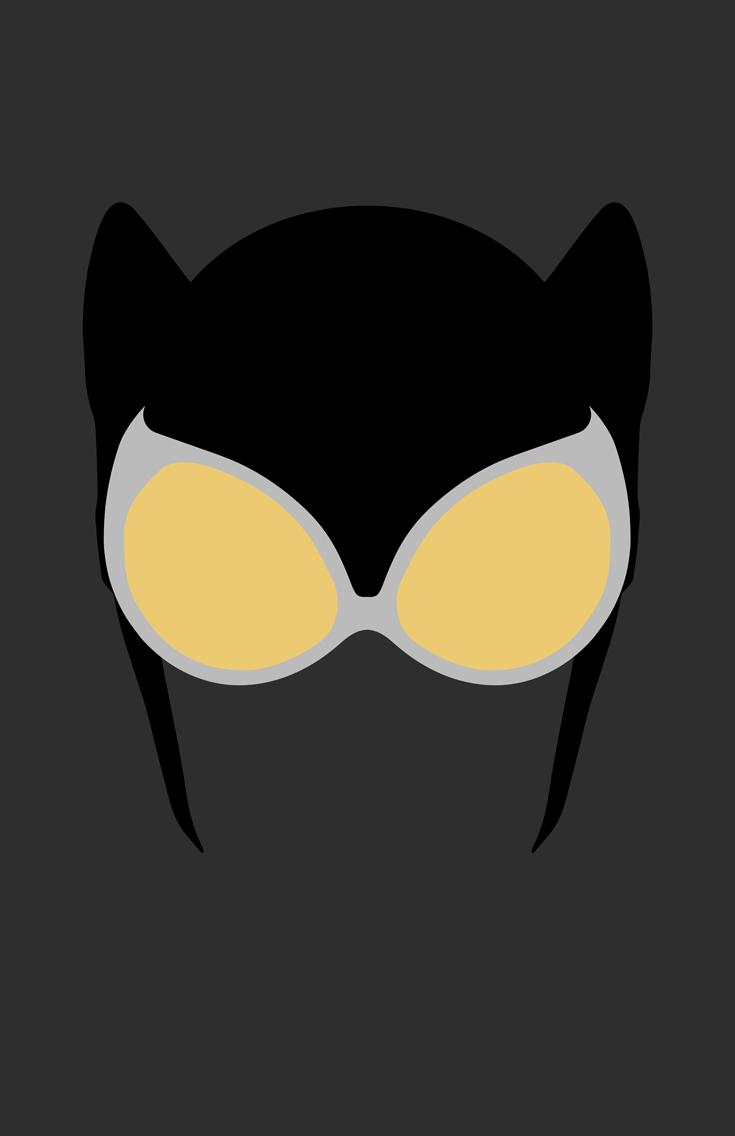 Catwoman Mask Minimalist Design