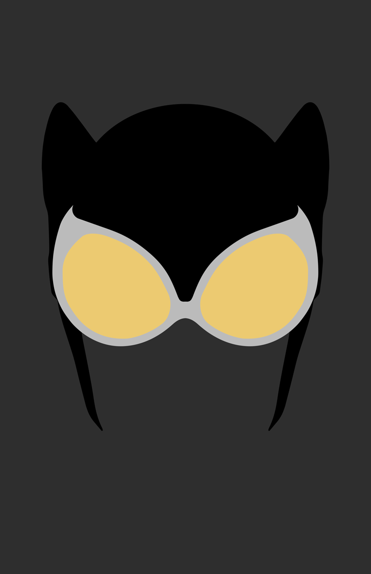 Catwoman Mask Minimalist Design by burthefly