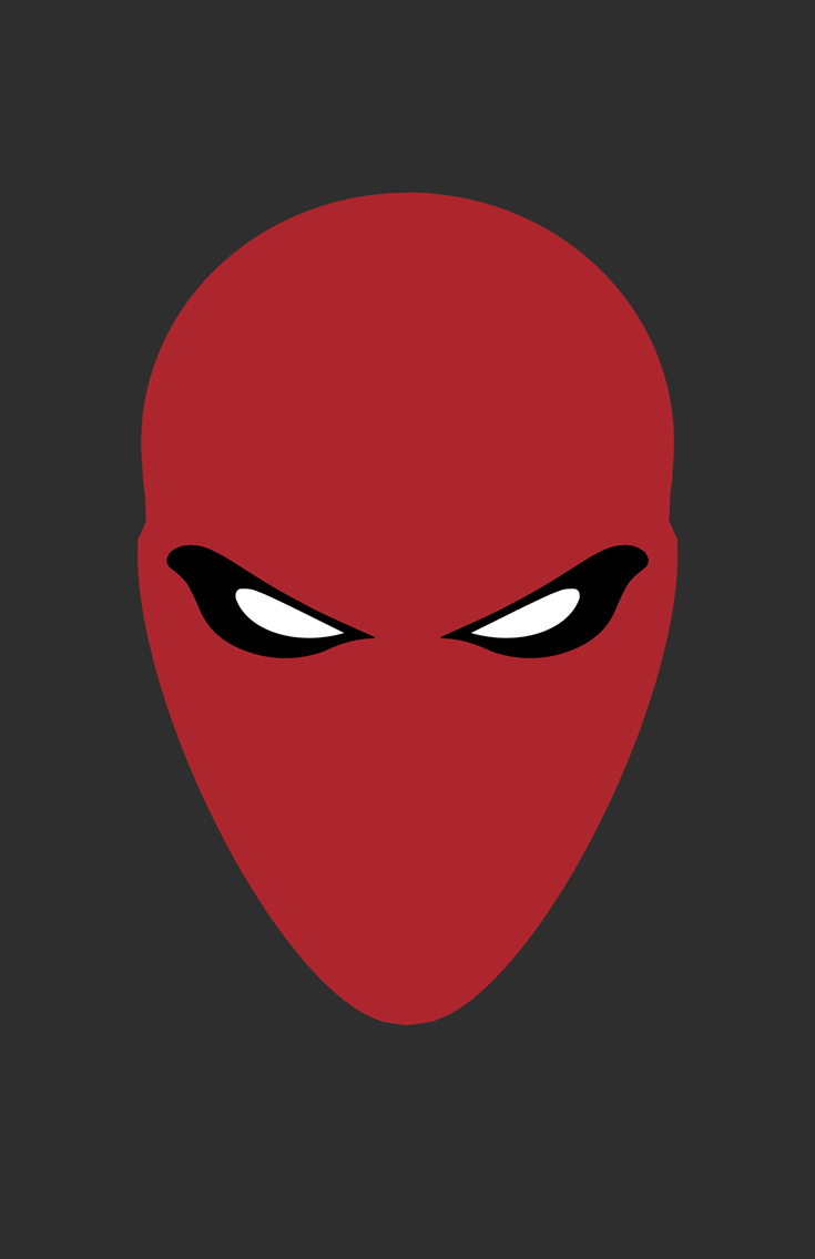 Red Hood Helmet Minimalist Design by burthefly
