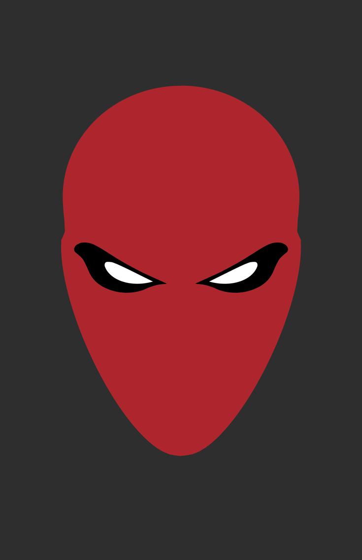 Red Hood Helmet Minimalist Design