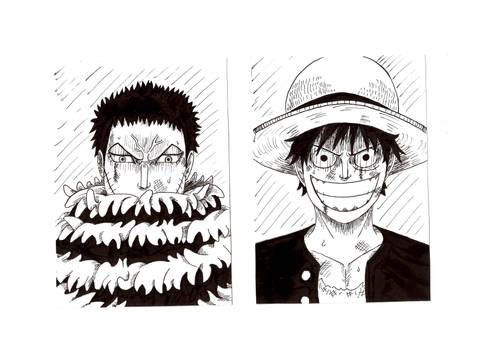 Luffy and Katakuri by BatVictor