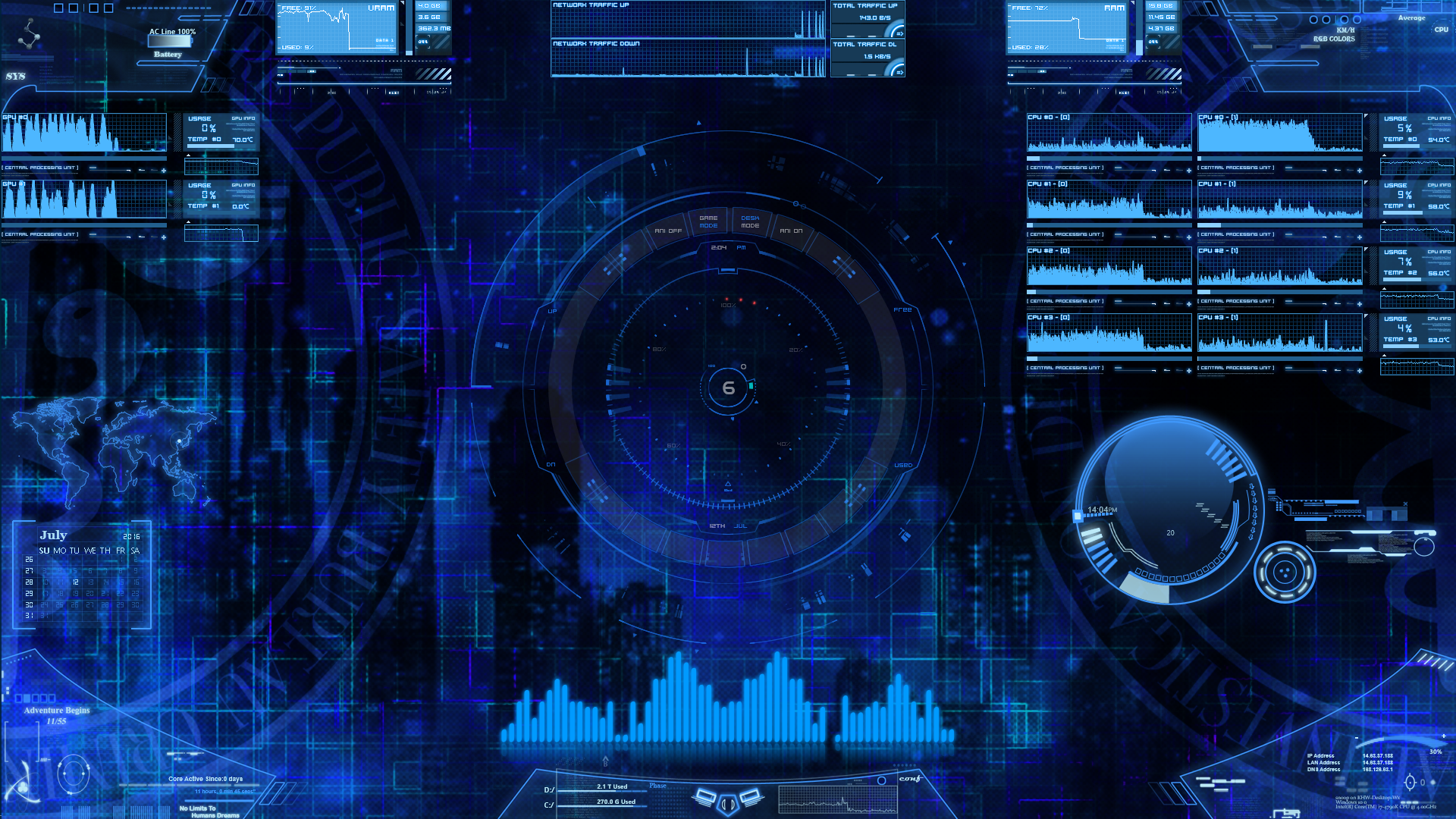 Rainmeter futuristic electronic space like by for Deviantart rainmeter