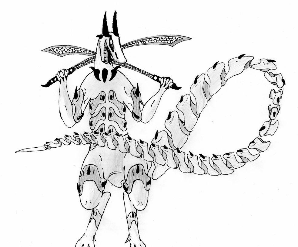 Unnamed Dragon by kartoffelofpain